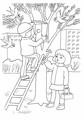 Картинка для детей пенек
